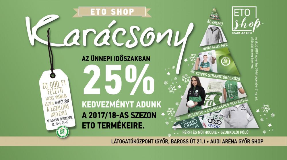 b9278e5327 Hangolódjanak velünk az ünnepre és szerezzék be kedvenc zöld-fehér  szurkolói termékeiket most kedvezményes áron a győri Látogatóközpont ETO  Shopjában!